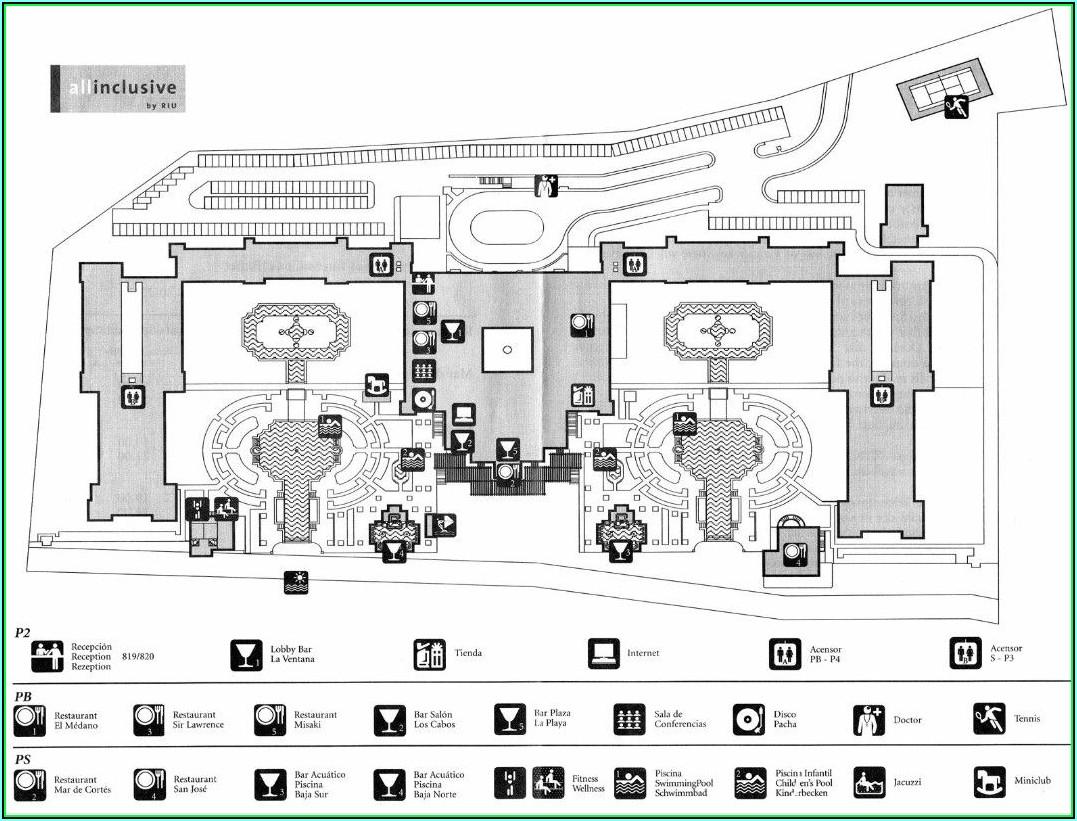 Riu Palace Los Cabos Hotel Map