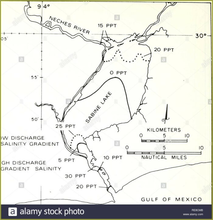 Sabine Lake Salinity Map