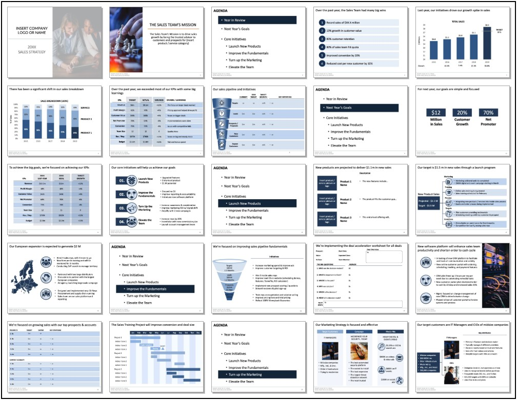 Sales Strategy Plan Template Powerpoint
