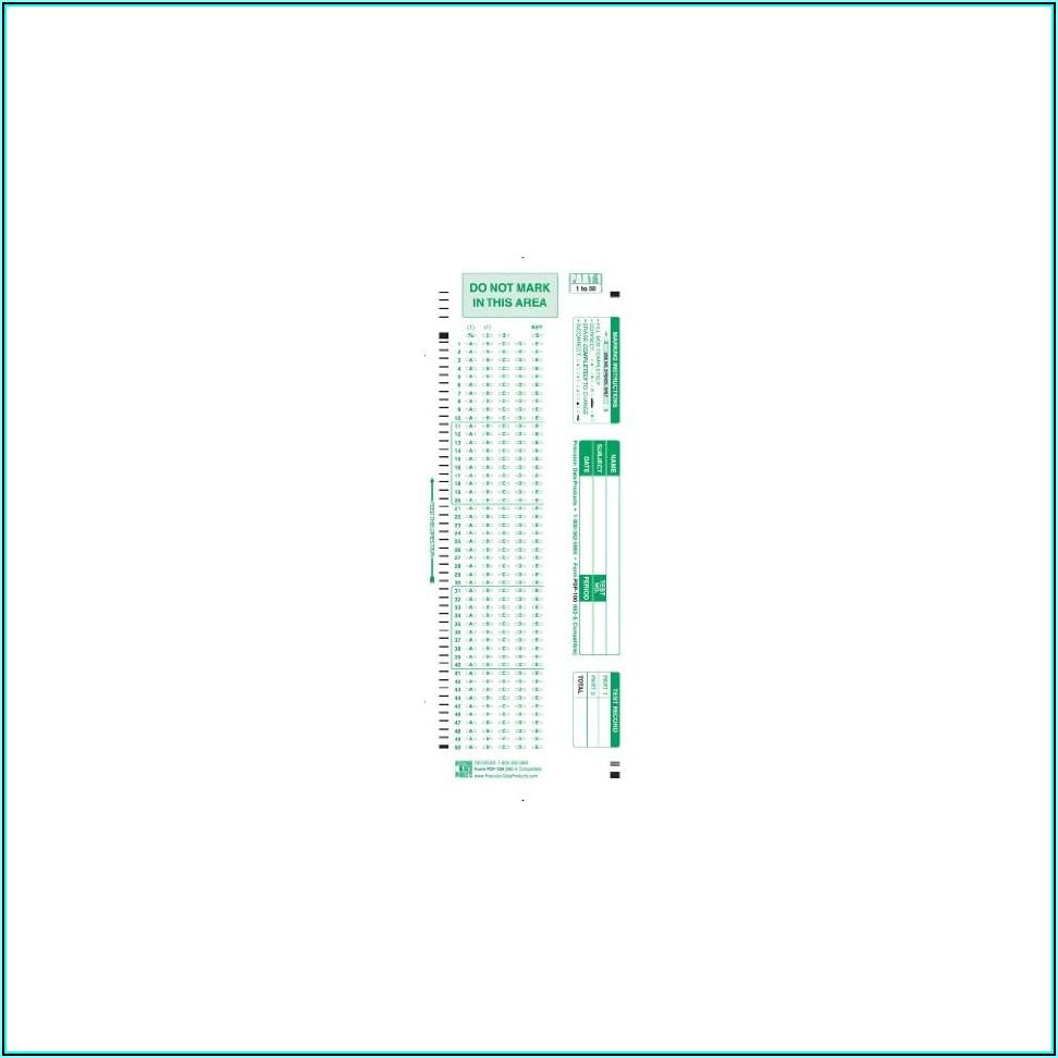 Scantron Form No. 882 E