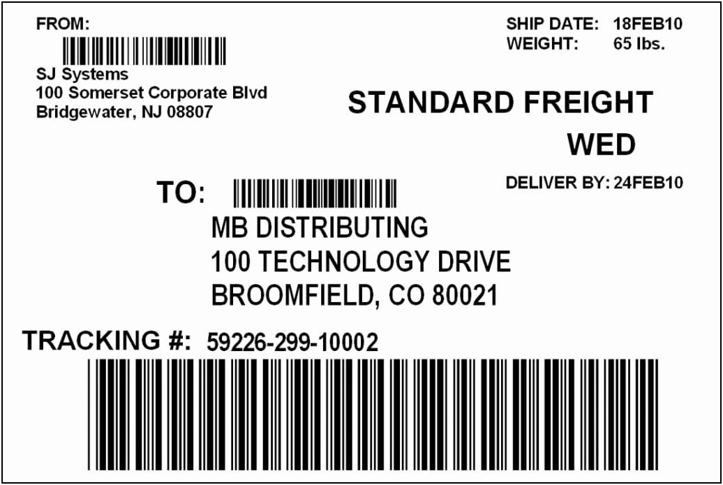 Shipping Label Templates Free