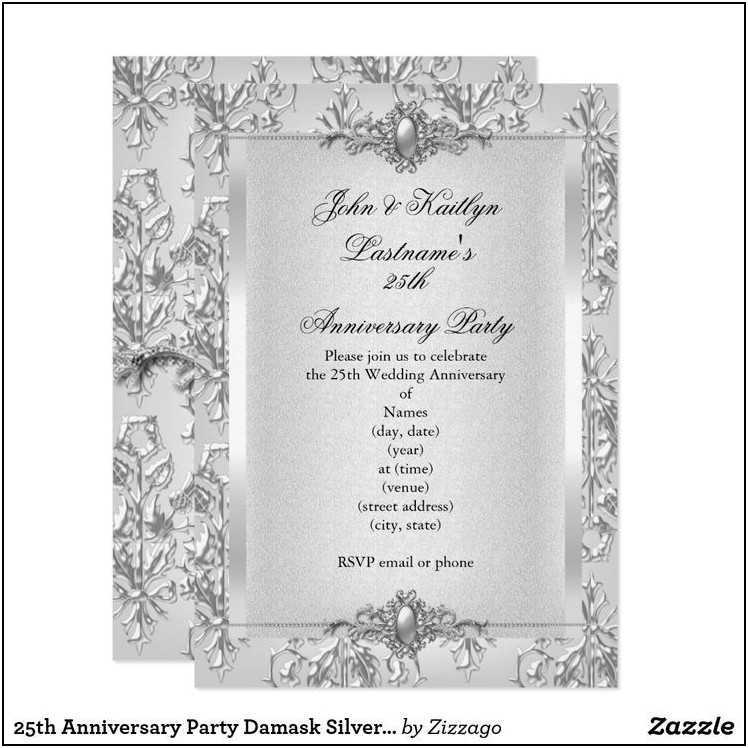Silver And White Wedding Invitation Templates