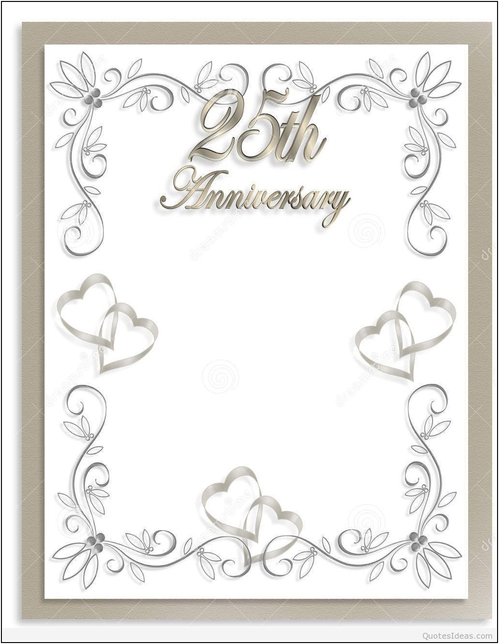 Silver Wedding Party Invitation Templates