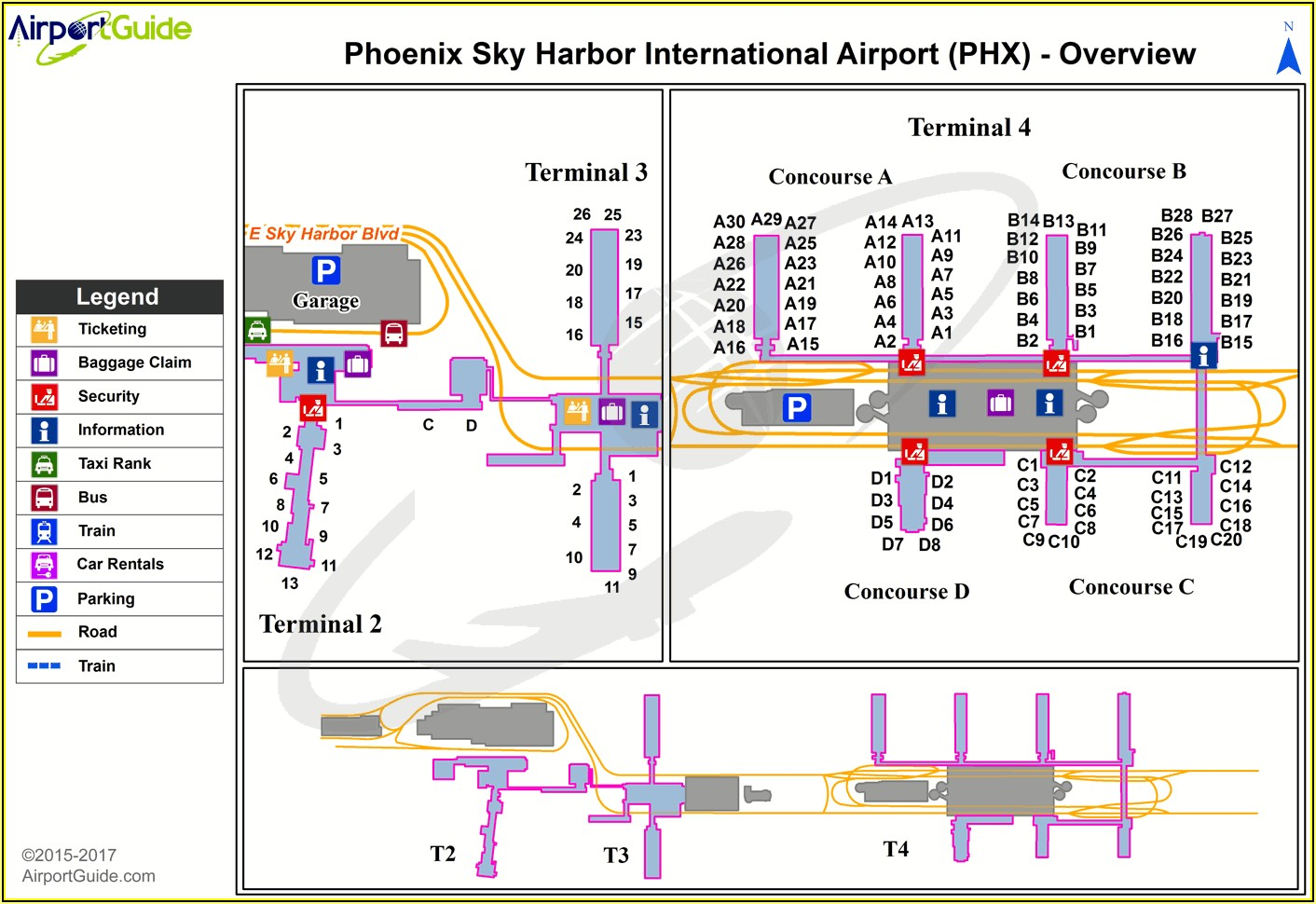 Sky Harbor Airport Parking Terminal 4 Map