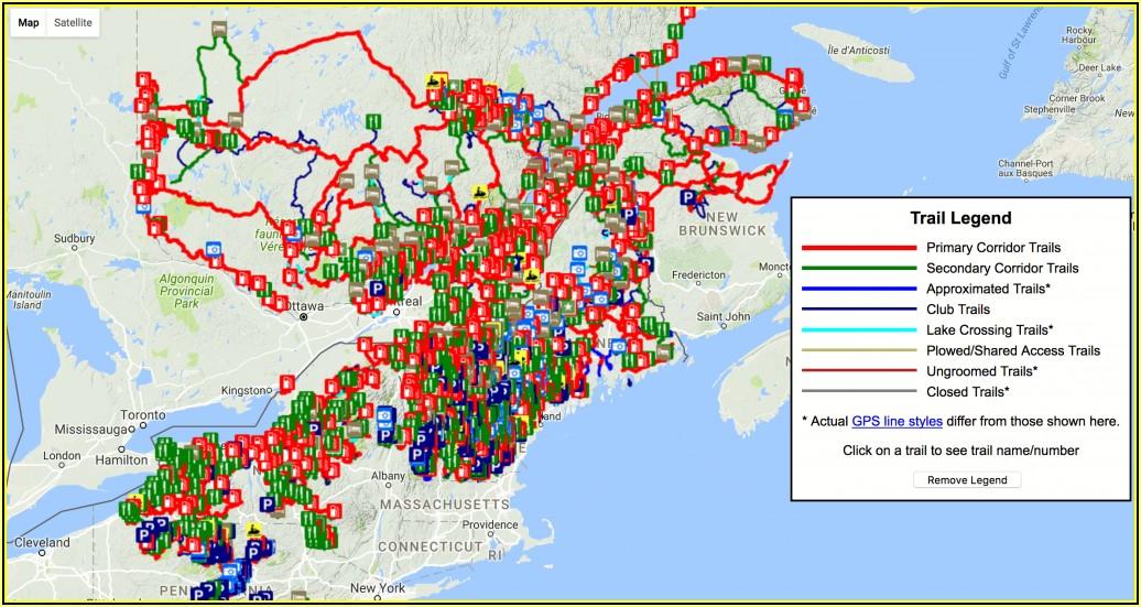 Snowmobile Trail Maps Ontario Canada