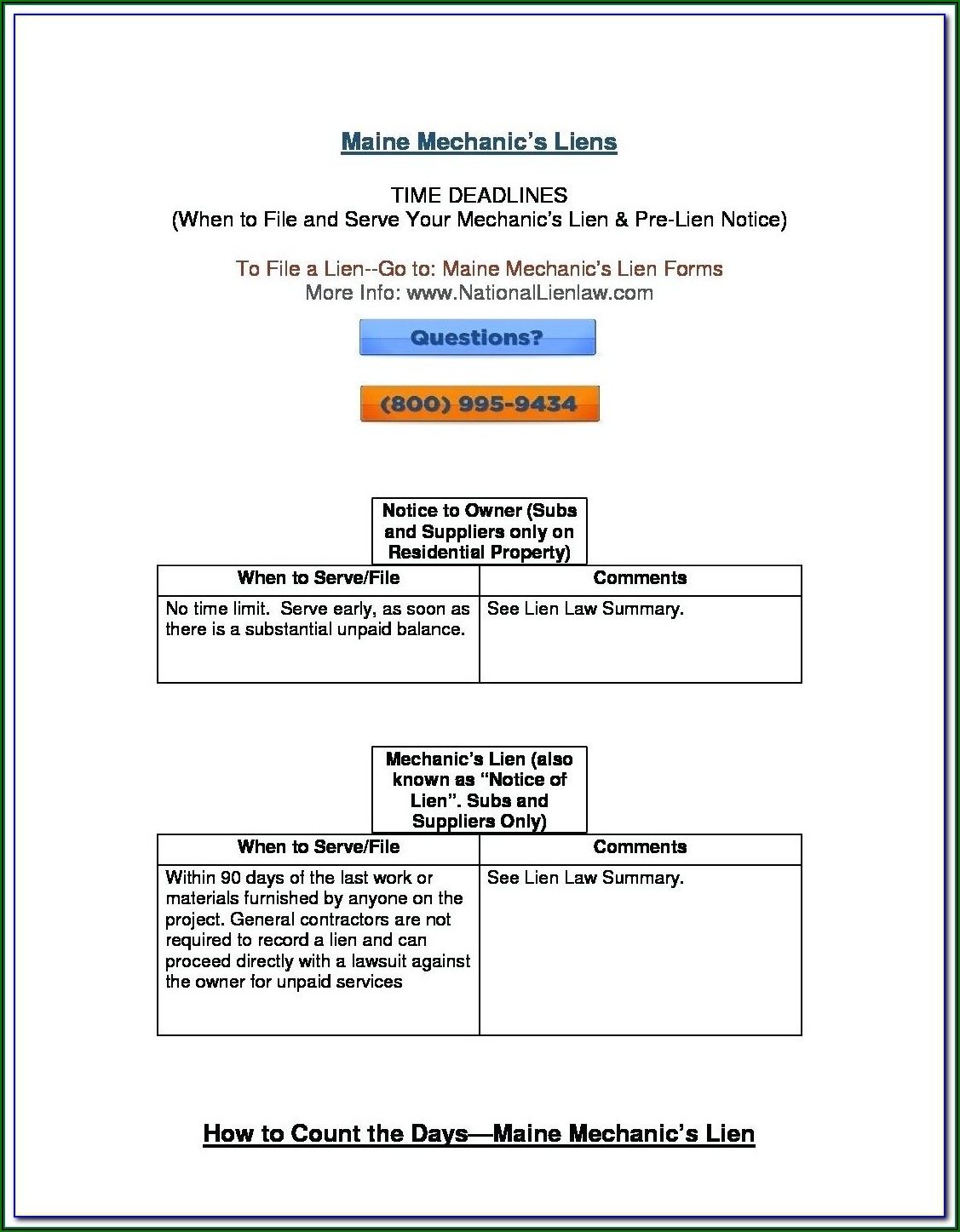 State Of Michigan Construction Lien Forms