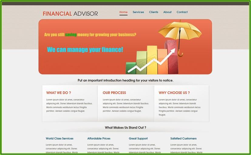 Stock Market Trading Website Templates
