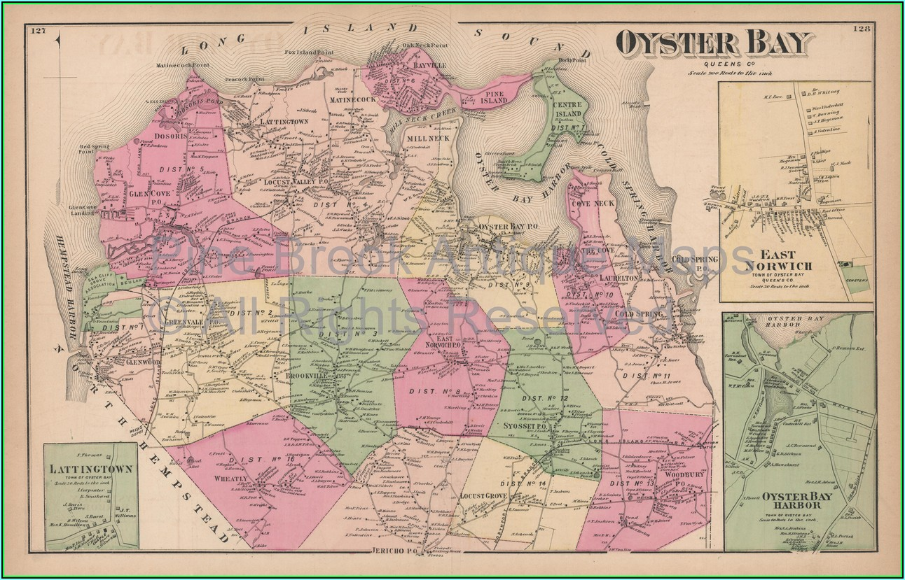 Street Map Of Oyster Bay Ny