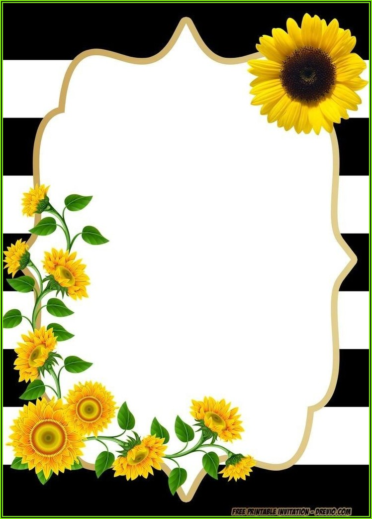 Sunflower Birthday Invitation Template