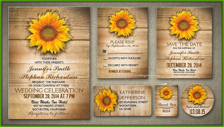 Sunflower Invitation Template
