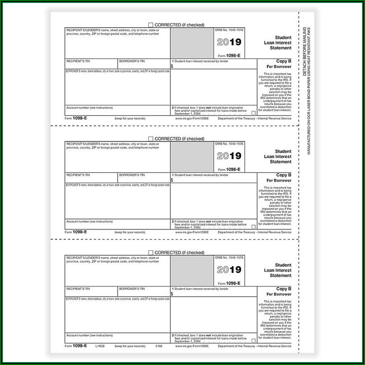 Tax Forms 1098 E