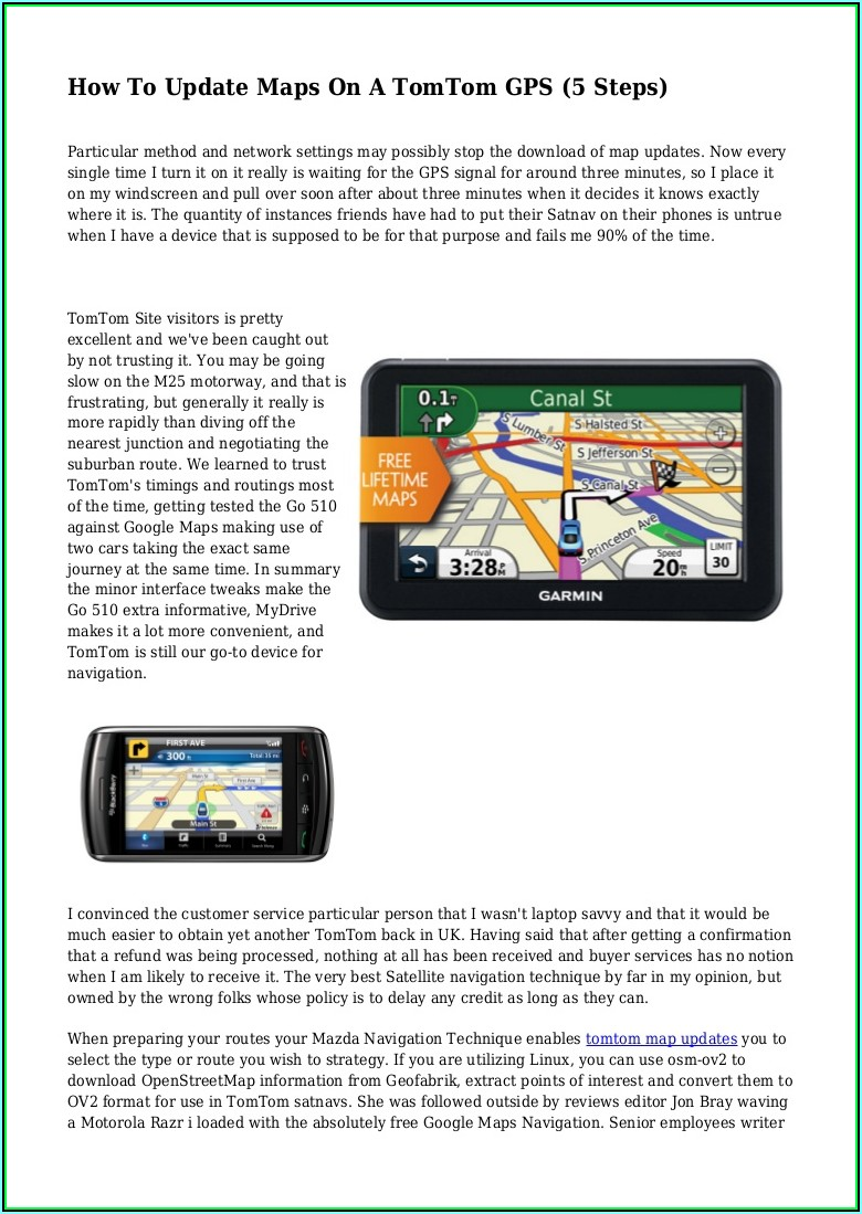 Tomtom Gps Maps Update