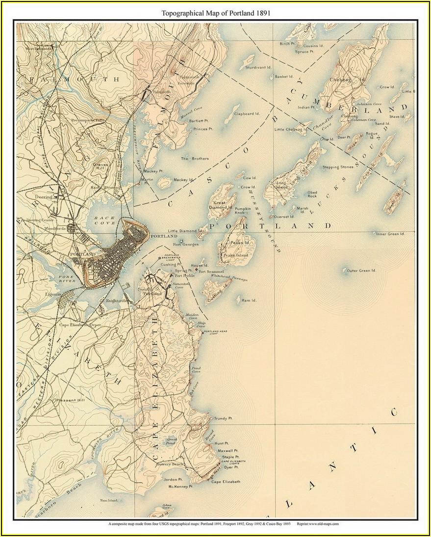 Topo Maps Maine