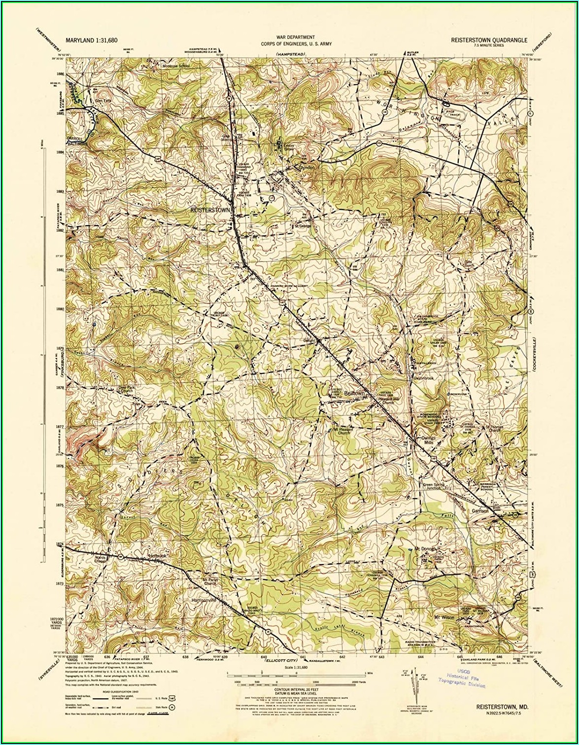 Topographic Maps Maryland
