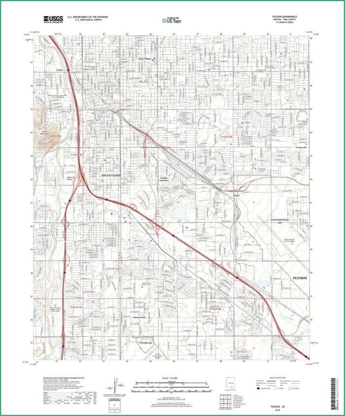 Topographic Maps Tucson Arizona