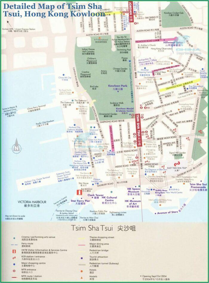 Tsim Sha Tsui Hotels Map