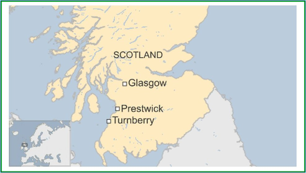 Turnberry Golf Course Scotland Map