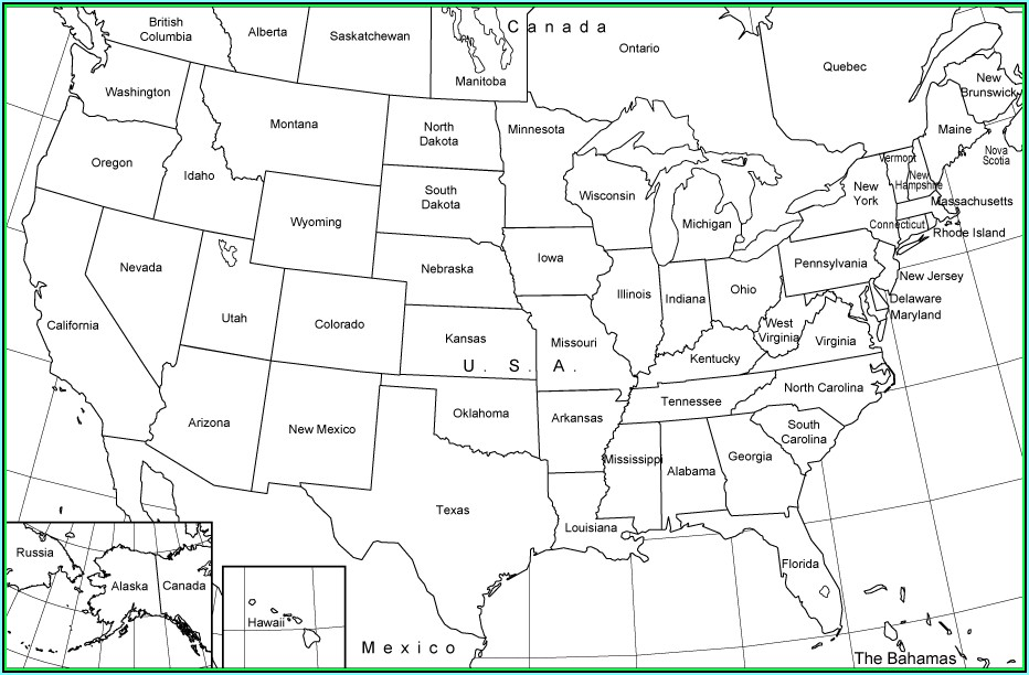 United States Map License Plate Game