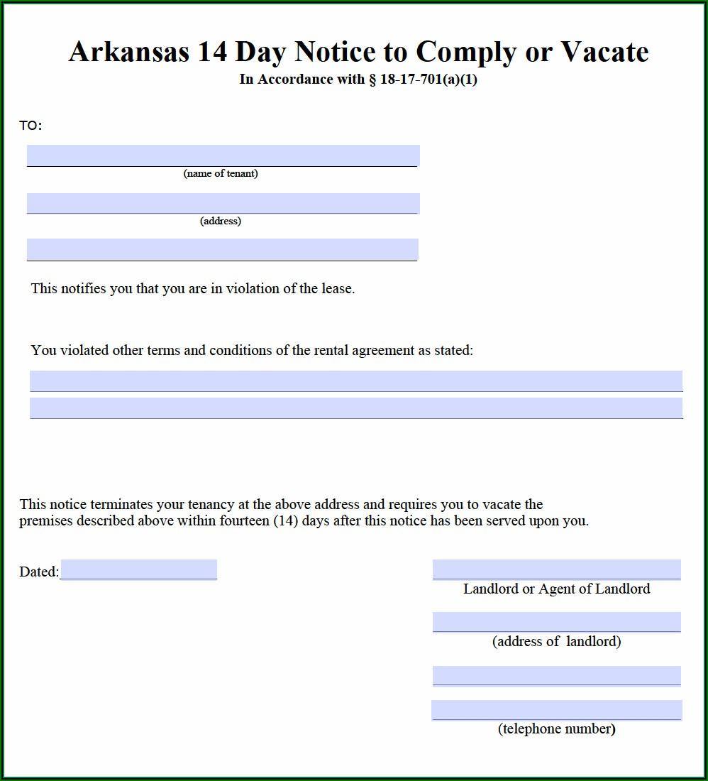 Unlawful Detainer Form Arkansas