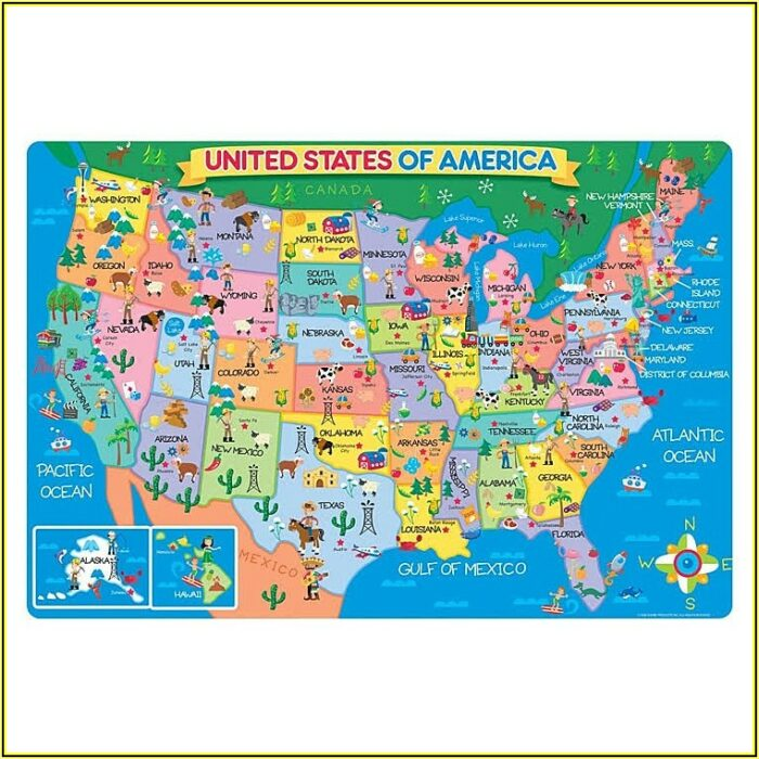 Us Map Floor Puzzle