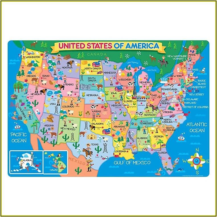 Us Map Floor Puzzle