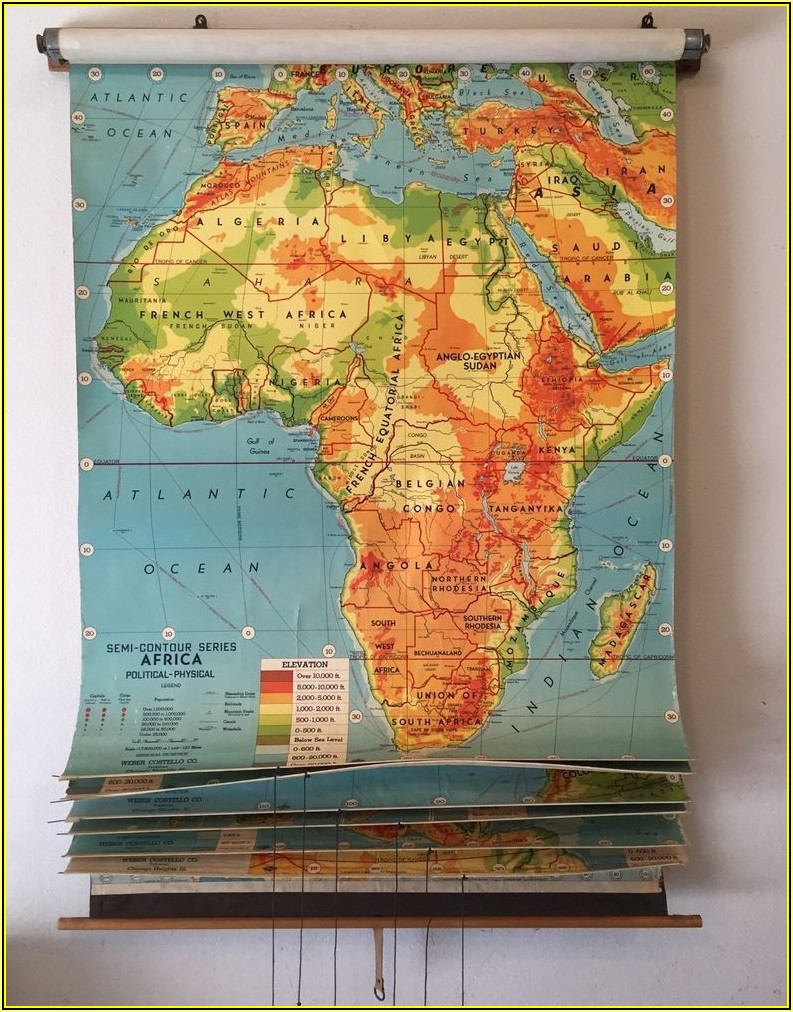 Vintage School Maps For Sale