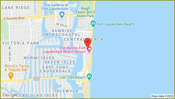 W Hotel Fort Lauderdale Map