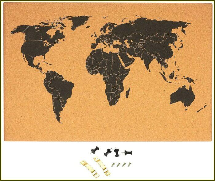 Wall Sized Cork World Map