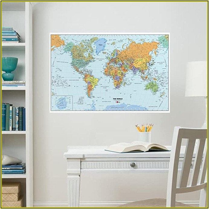 Wallpops World Dry Erase Map