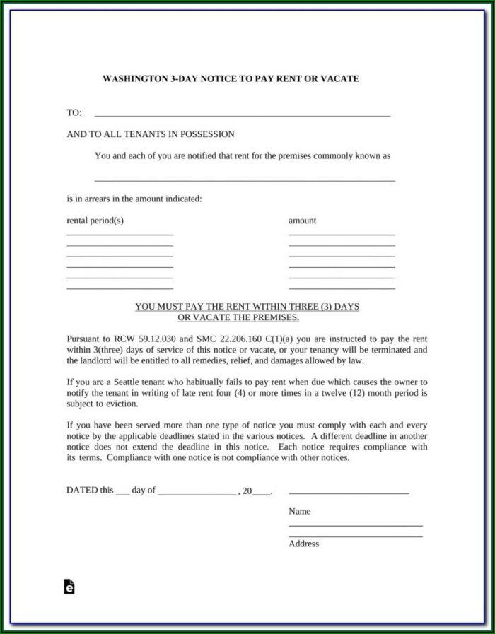 Washington County Eviction Forms