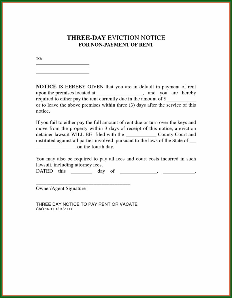 Washington State Rental Eviction Forms