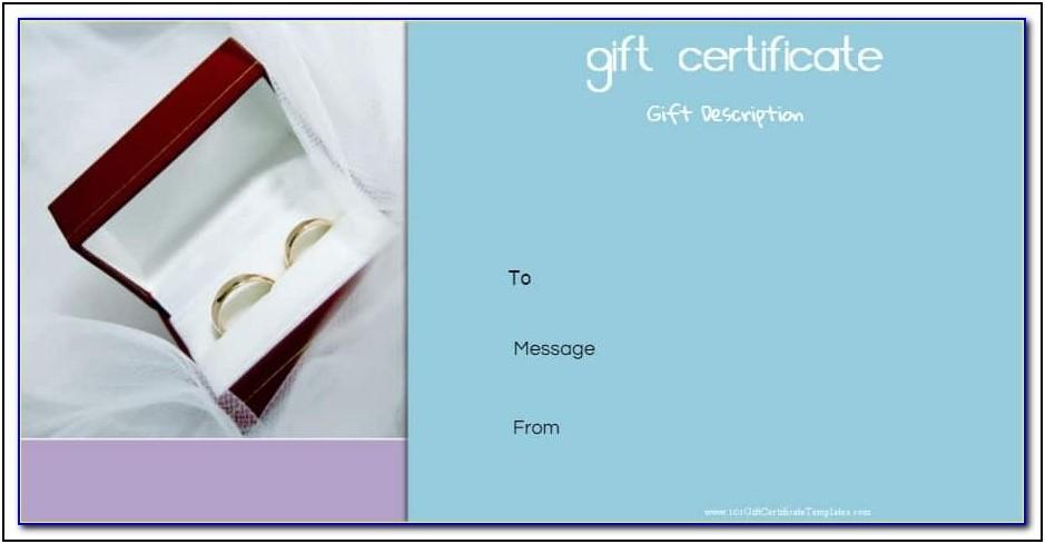 Wedding Anniversary Gift Certificate Template