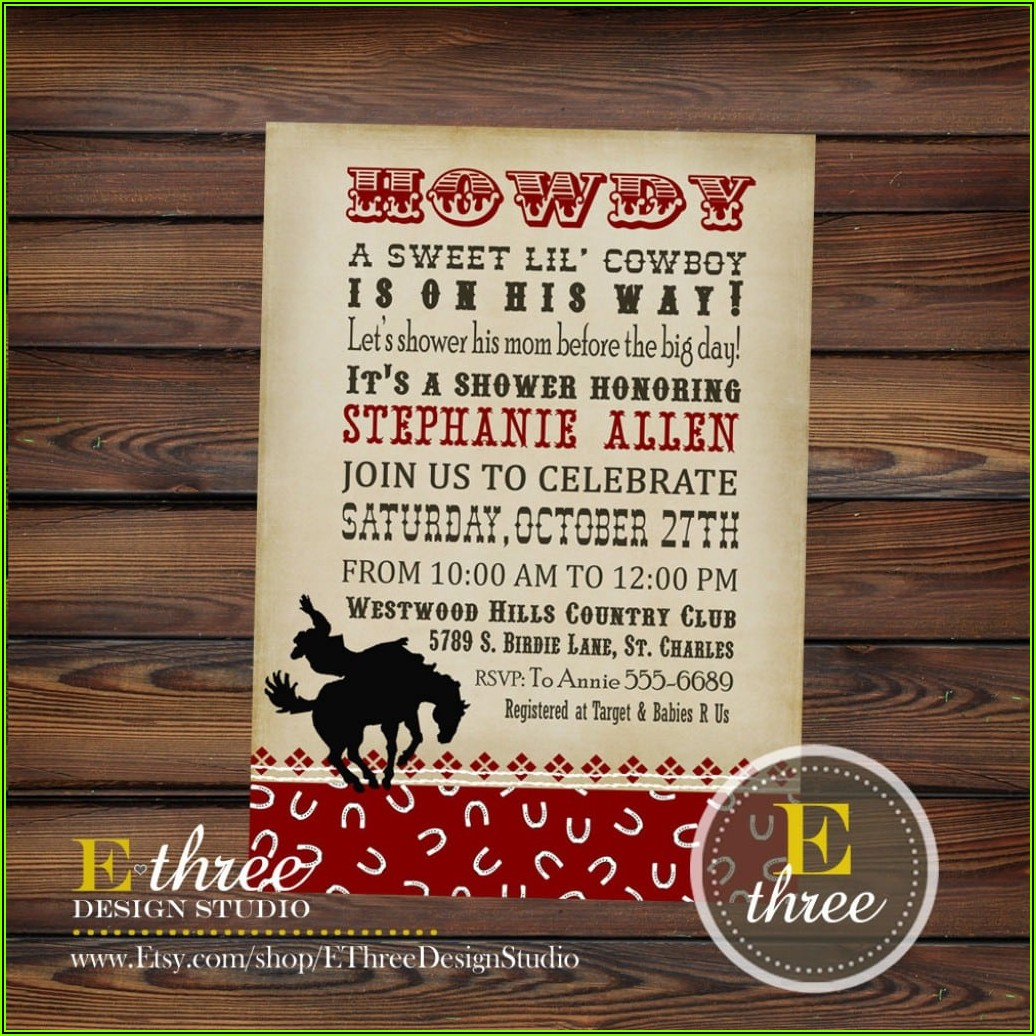 Western Wedding Invitation Templates