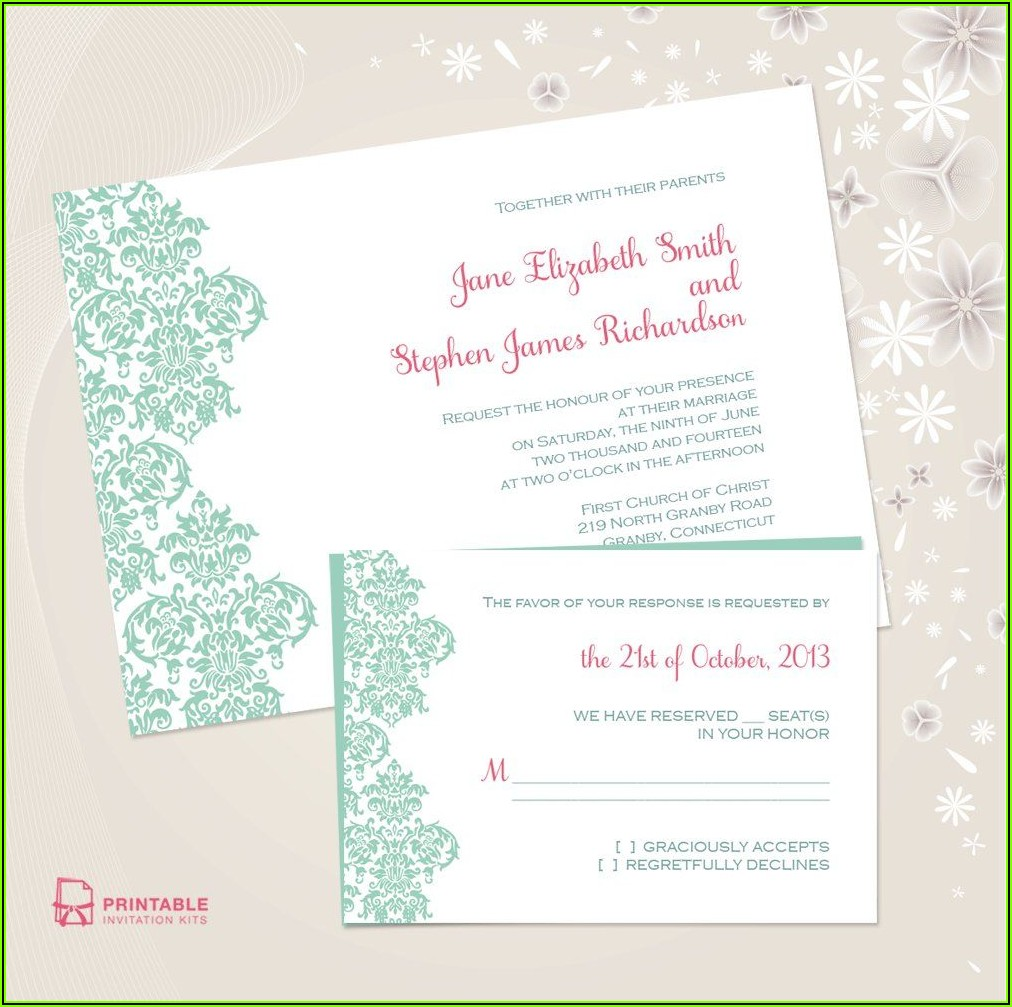 Western Wedding Invitations Templates Free