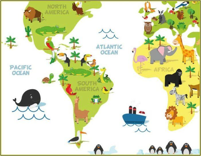 World Map Decal Nz