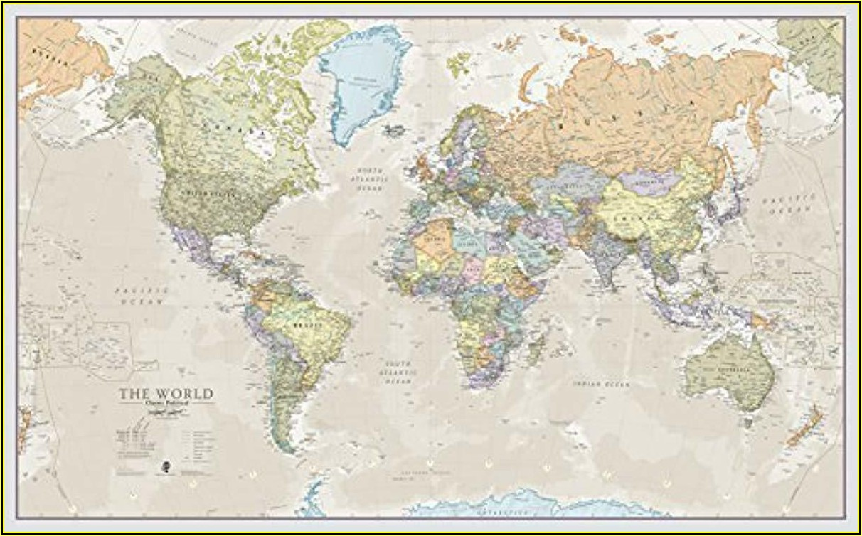 World Map Laminated Poster