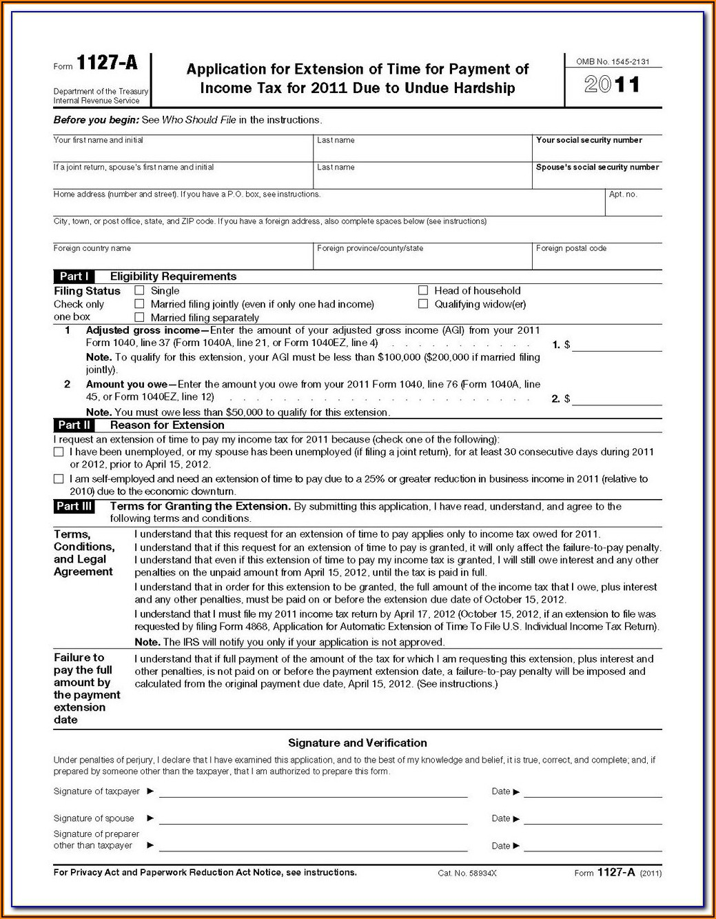 1040ez 2011 Form Instructions