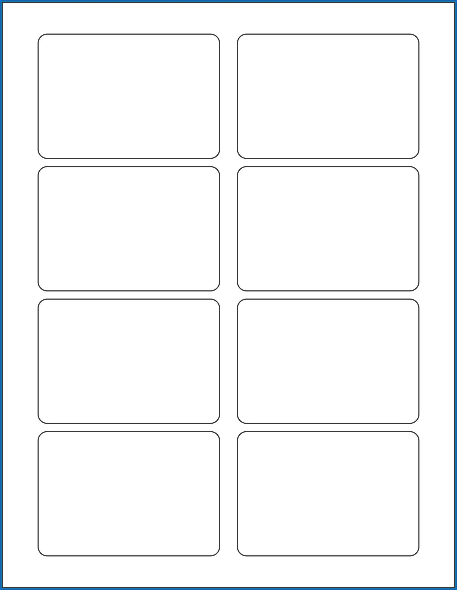 3 X 34 Label Template