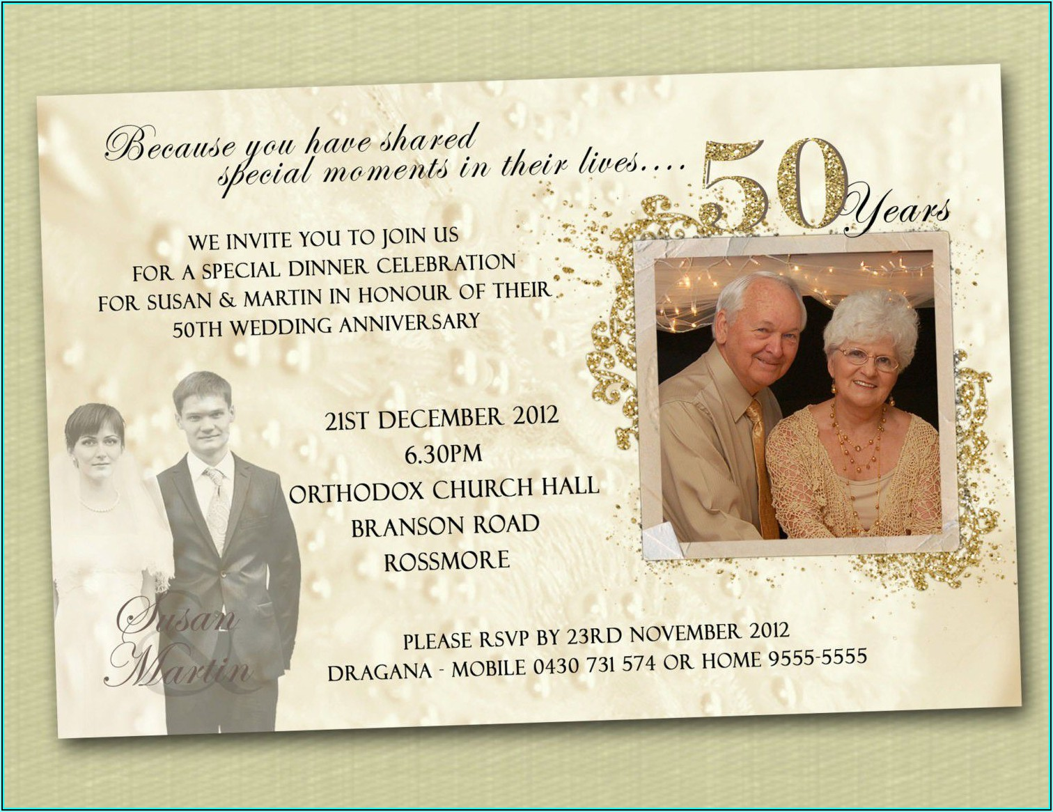 50th Wedding Anniversary Announcement Template