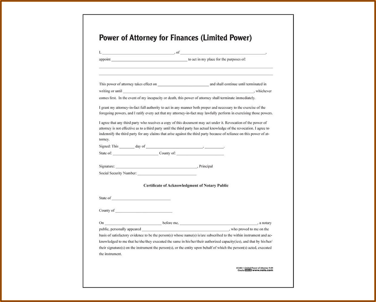 Adams Durable Power Of Attorney Form
