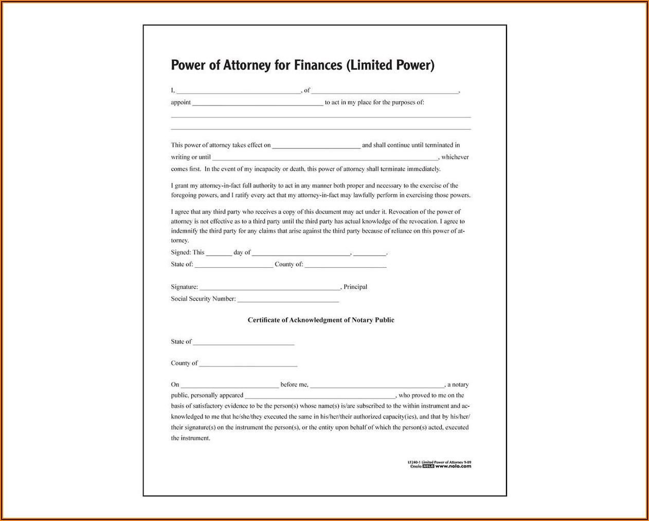 Adams Durable Power Of Attorney Form