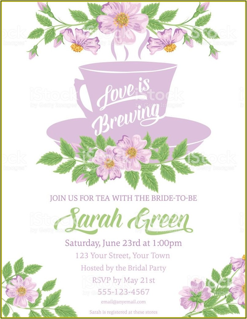 Afternoon Tea Party Invitations Template