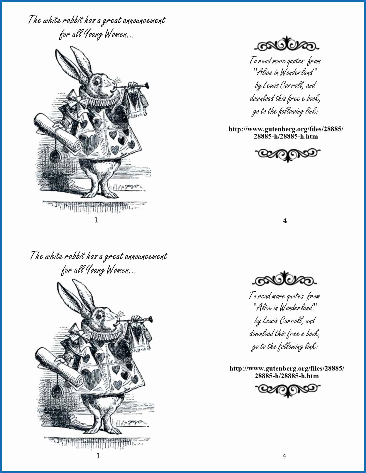 Alice In Wonderland Invitation Template Free Download