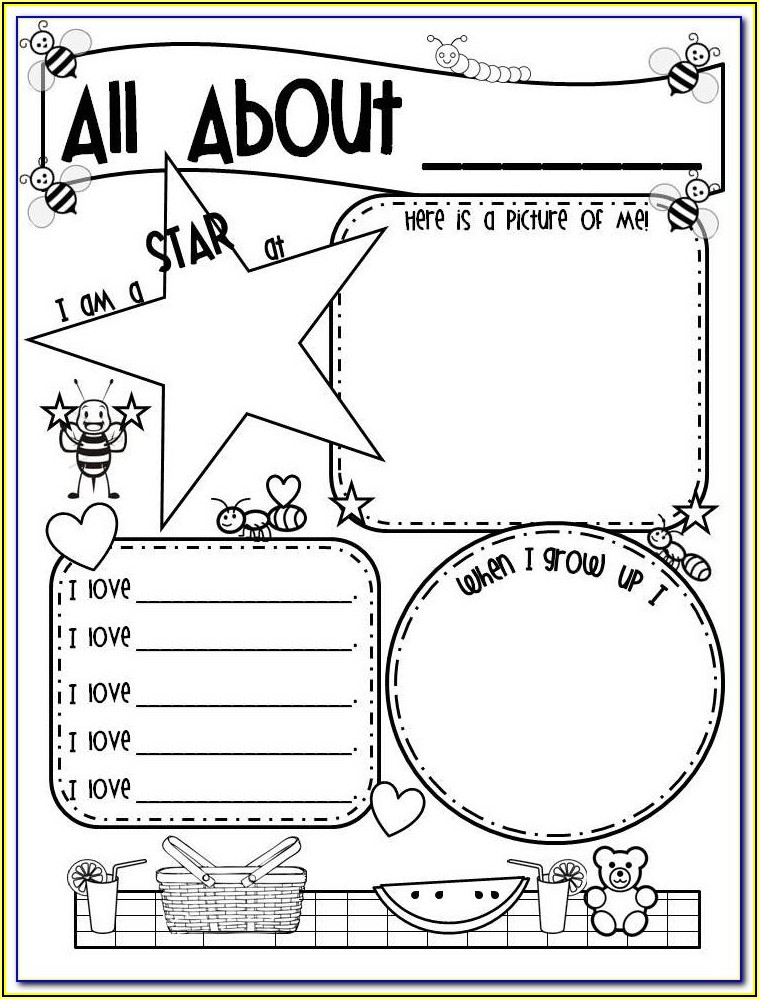 All About Me Poster Template