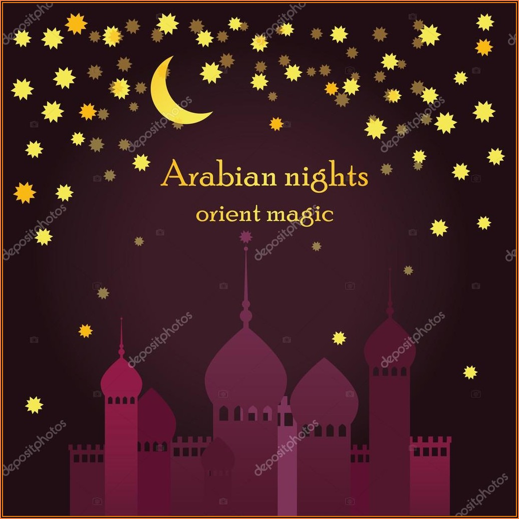 Arabian Nights Invitation Template