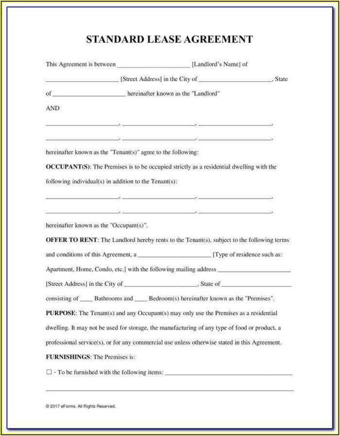Auto Lease Agreement Template Free