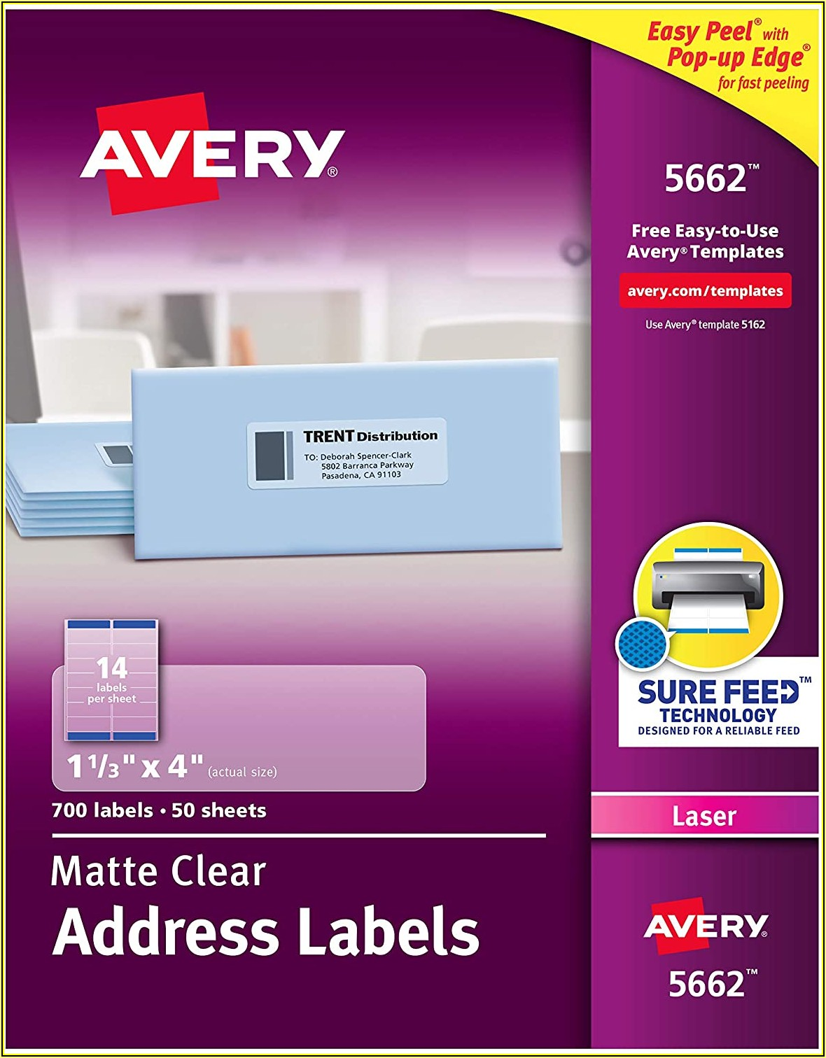 Avery 8662 Clear Labels Template