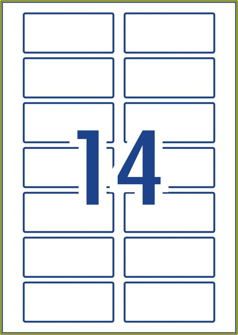 Avery A4 8 Labels Per Sheet Template