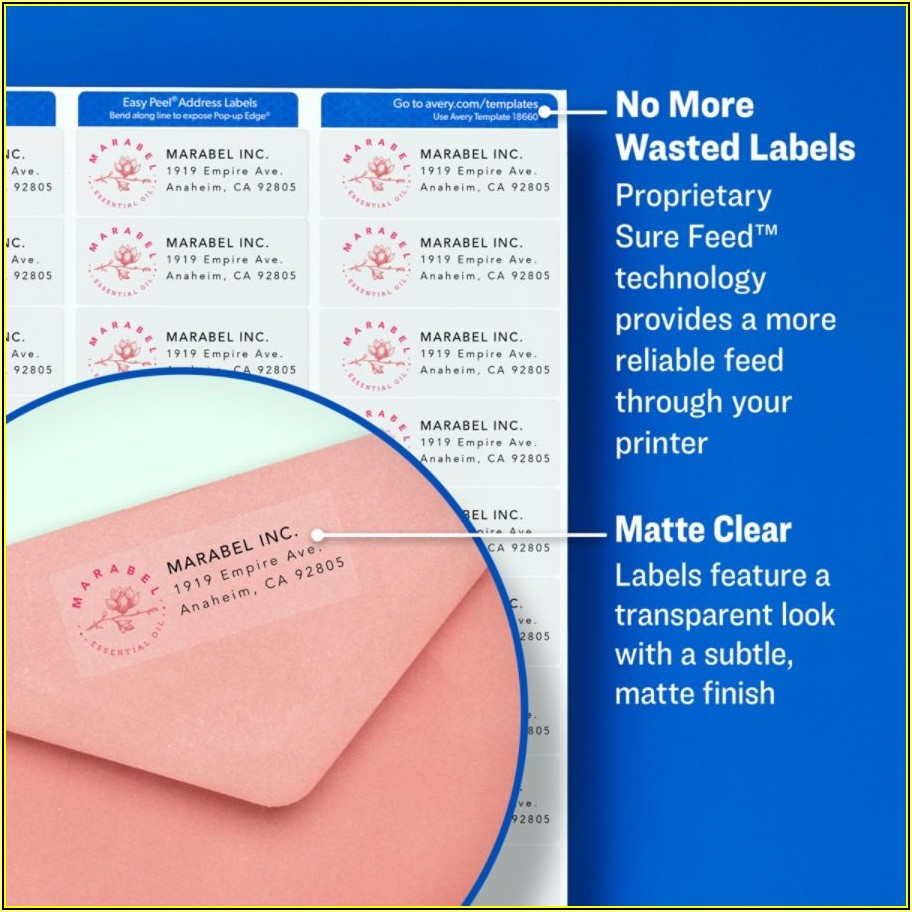 Avery Clear Label Template 15663