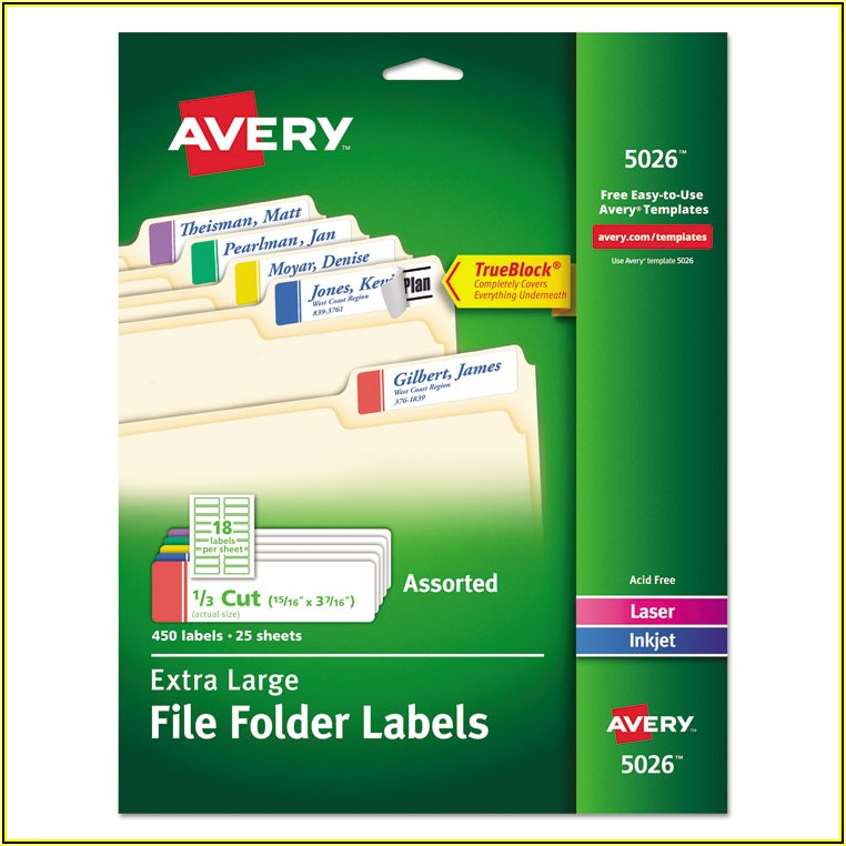 Avery File Label Template 5026